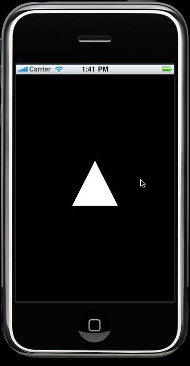 белый треугольник в центре